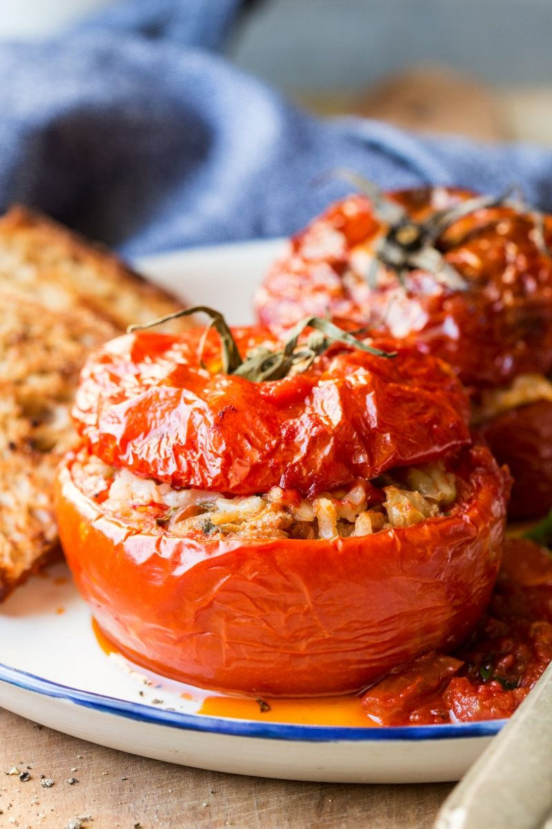 Yemista Greek Stuffed Peppers And Tomatoes Lazy Cat Kitchen Recipe Stuffed Peppers Greek Stuffed Peppers Delicious Healthy Recipes