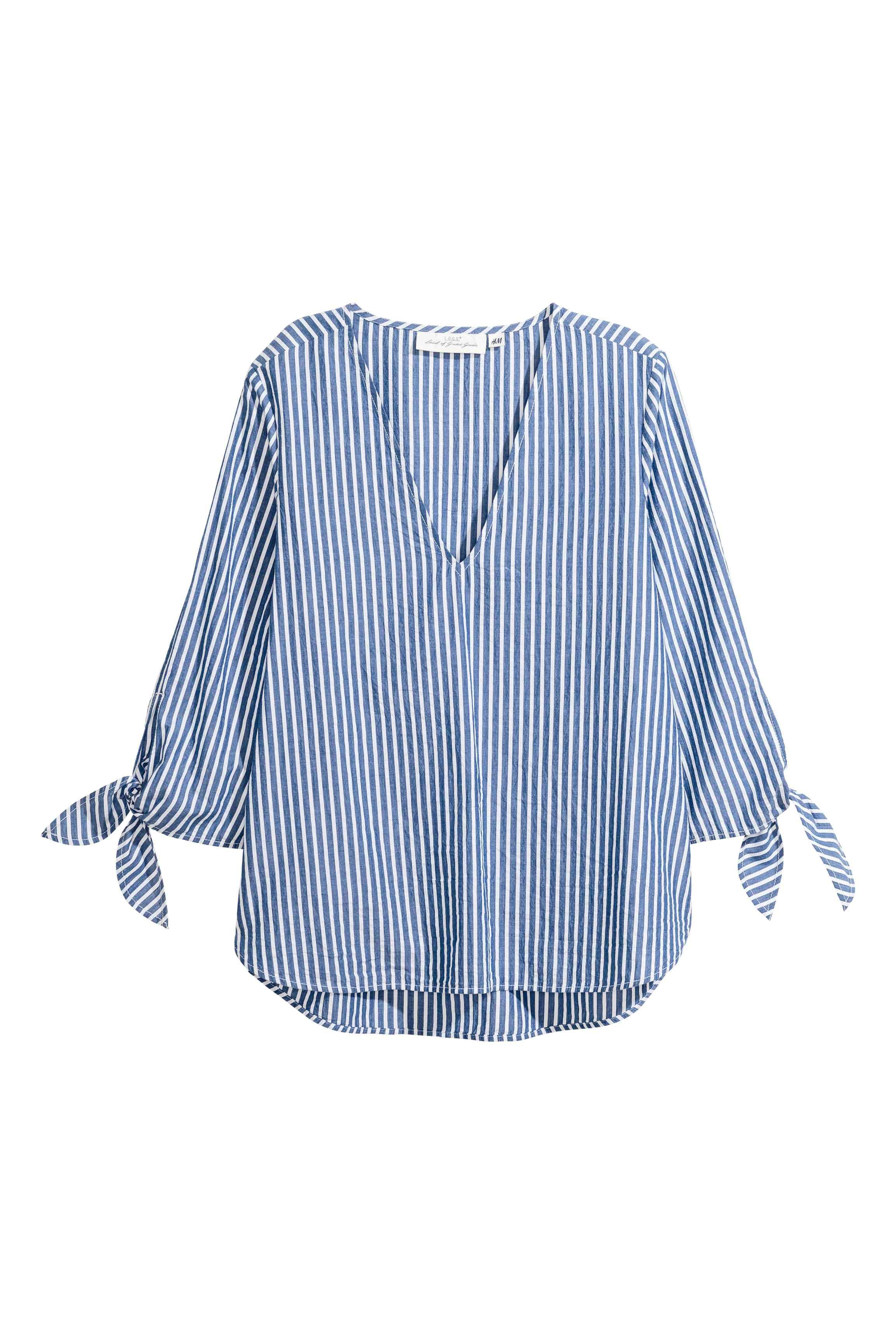 New women/'s H/&M lin casual blanc chemise à manches 3//4 taille plus