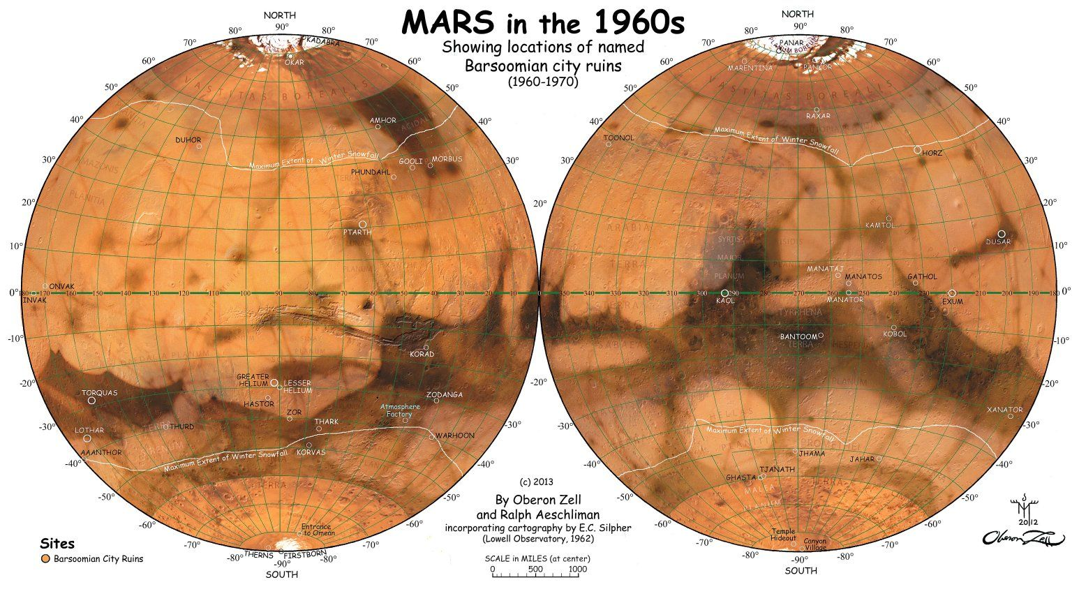 us airforce picture of mars 1960s