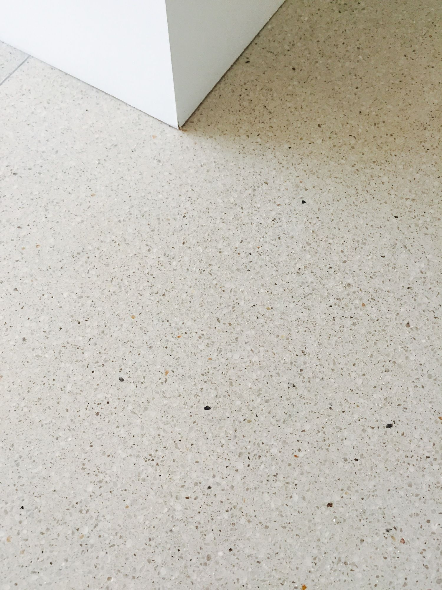 Alabaster With 3mm Off White Marble Polished Concrete