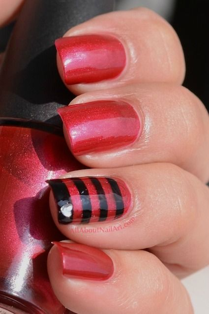 Cool Nail Designs Celebrity Inspired Nail Art Pinterest Tape
