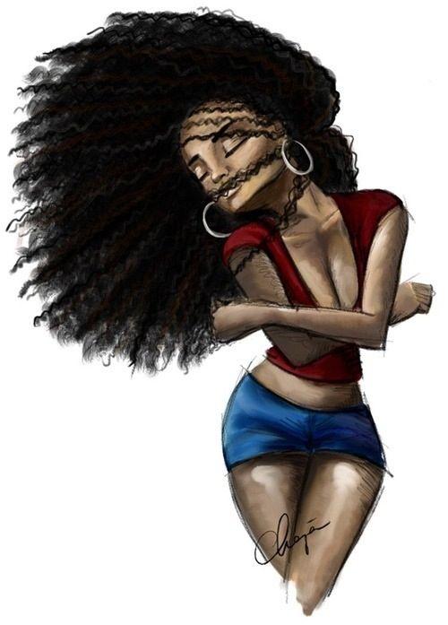 Afrocentric Art Black Is Beautiful Penteados