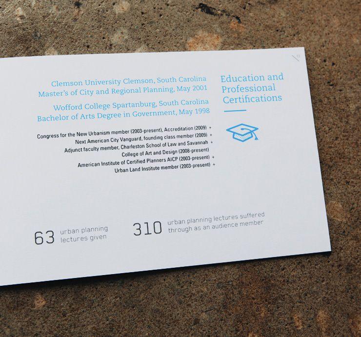 Handig, een visitekaartje maken van je cv! Hierdoor word je - urban planning resume