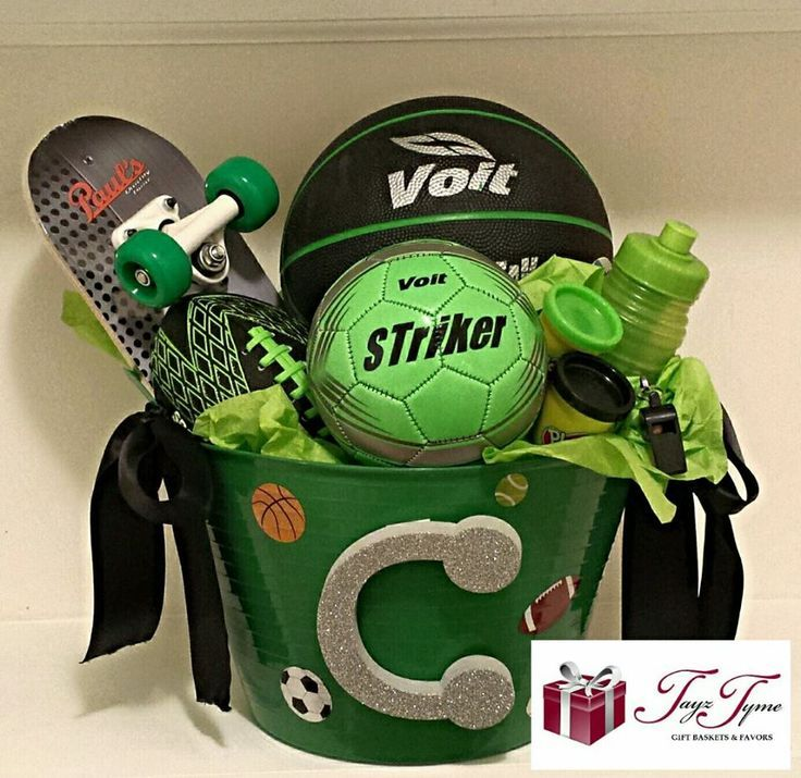 This Sports Themed Gift Basket was a special request order and I must say that i…