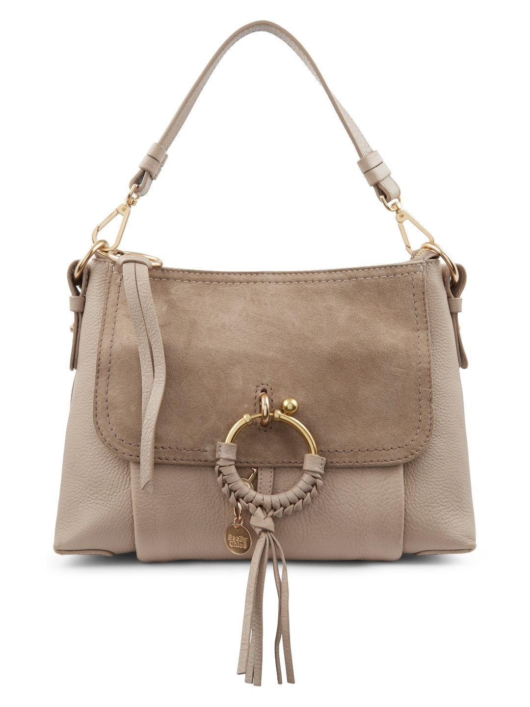 SEE BY CHLOÉ . #seebychloé #bags #shoulder bags #hand bags #lining #suede #cotton #