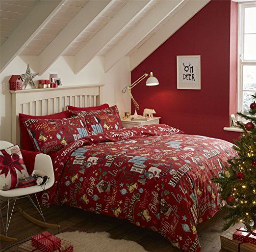 give your bedroom a festive feel with christmas and bedding for children and adults alike