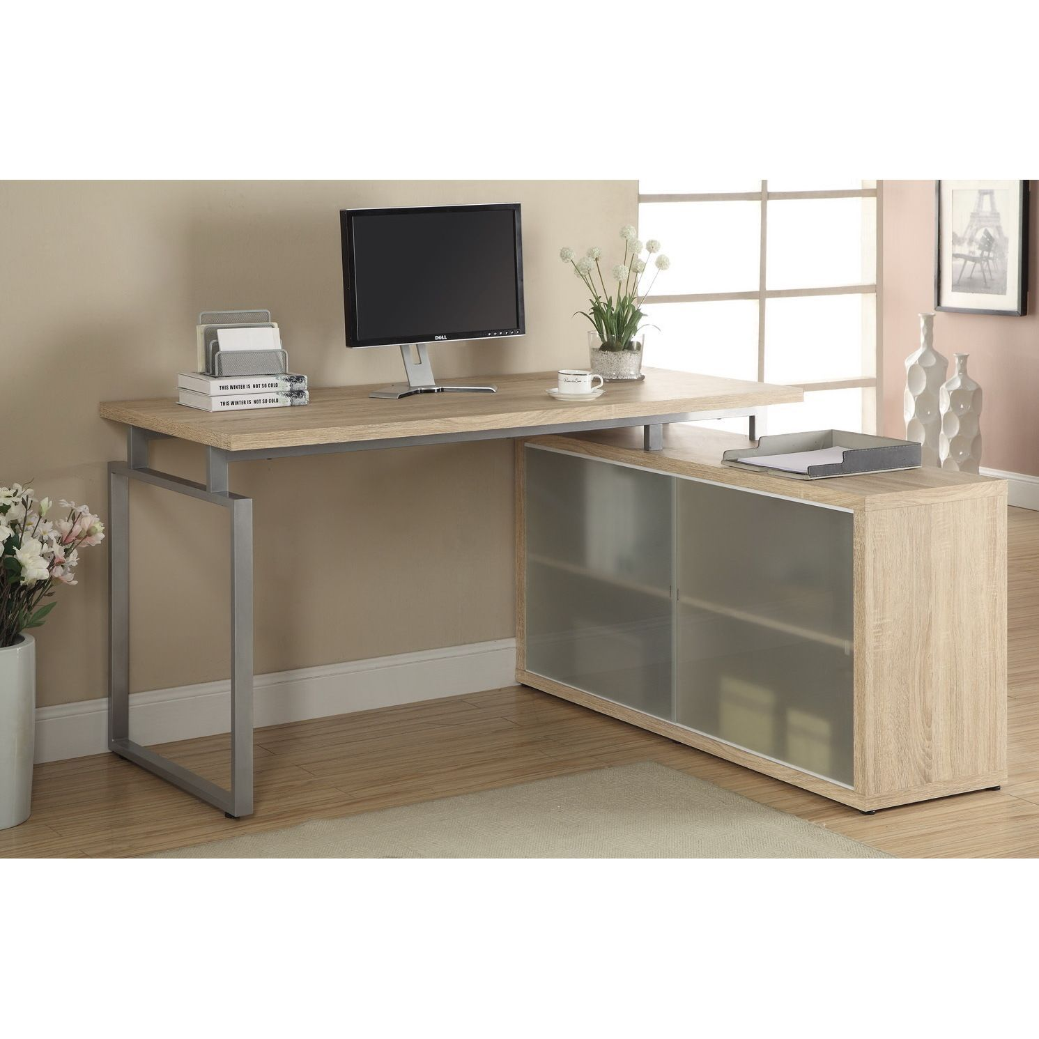 b desks desk pro with high bestar hutch l raw collection concept shaped