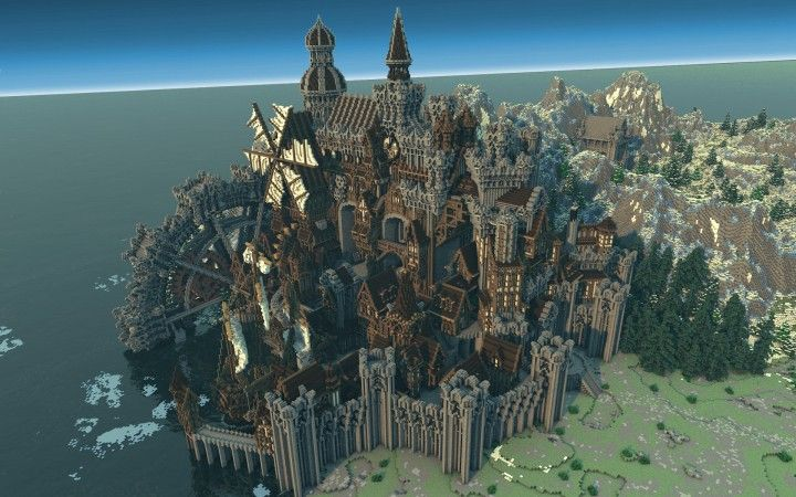 Conderial Steampunk City Amazing Minecraft Building Ideas Download Save Old Worldpainter Worldedit 3