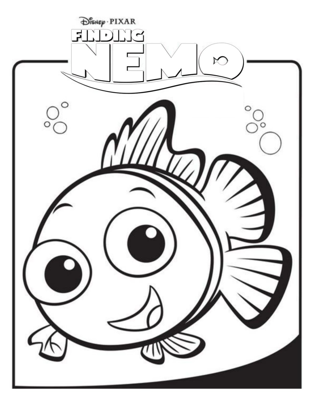 Finding Nemo White Logo (With images) Nemo coloring