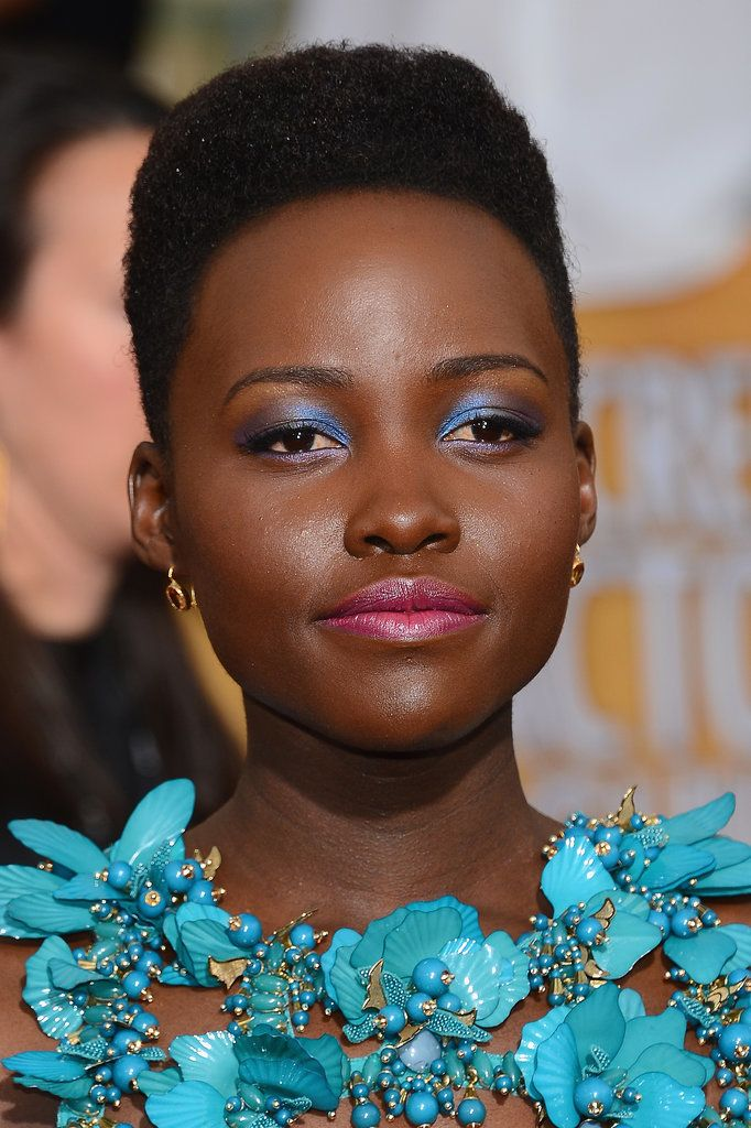 Lupita looks amazing in just about anything! She rocked her blue eyeshadow!