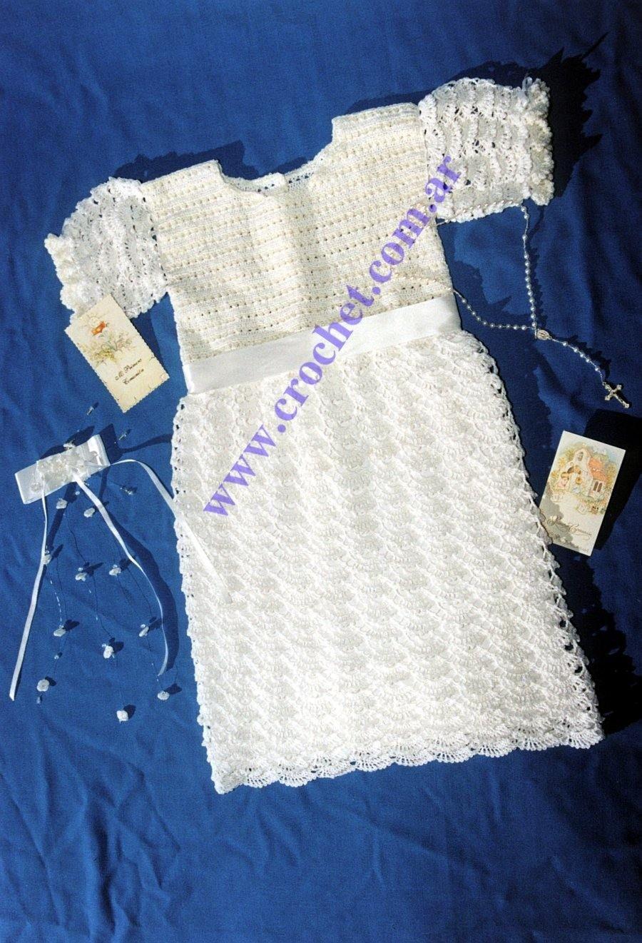 Vestido Para Comunión | Crochet: moda niña. | Pinterest | Vestidos ...