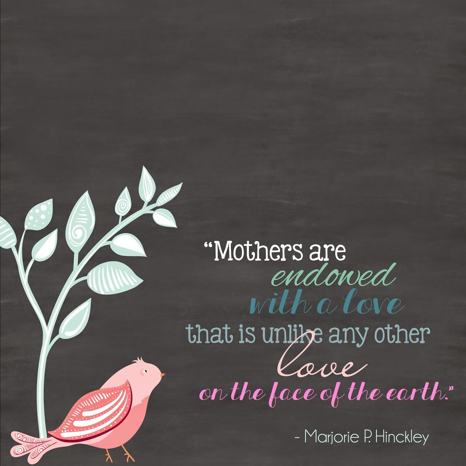 Mothers Who consistently,give them selves to Good Works