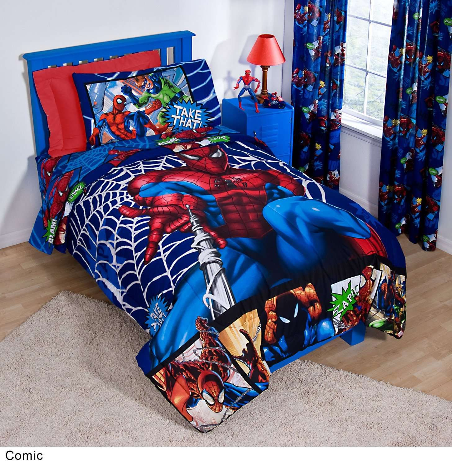 ideas new mattress endearing pine also bed spiderman paint colors rail blue divine simple decorating set wooden red concept wall frame in window bedroom with