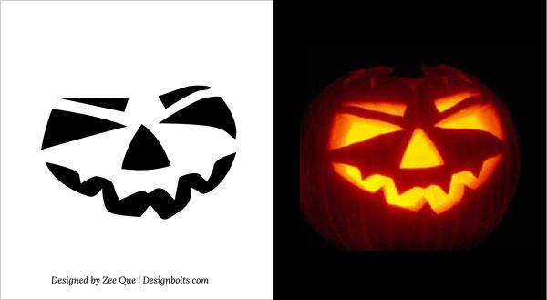10 free printable scary pumpkin carving patterns stencils ideas