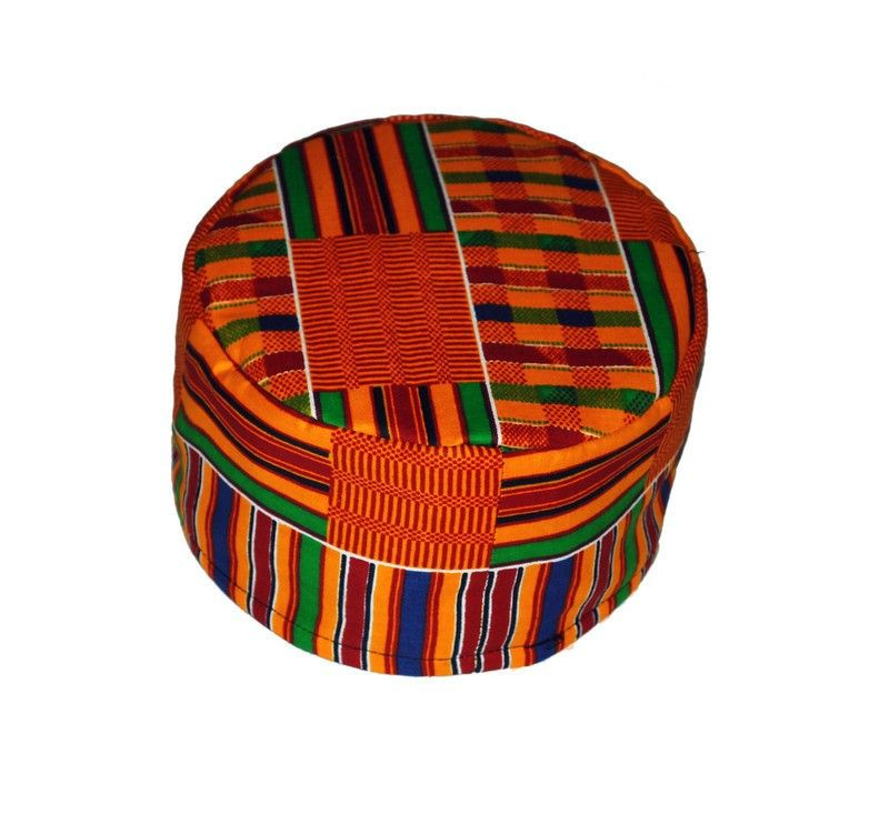 African Print Hat Kente Kufi In 2021 African Print African Hats Hats For Men