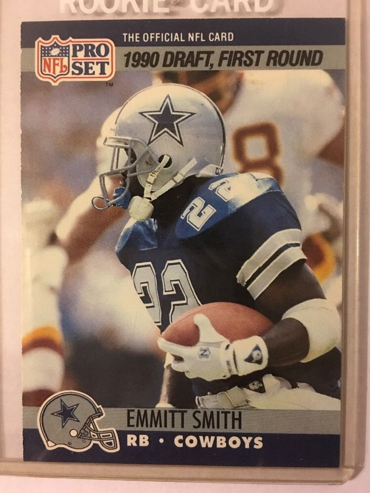 1990 Pro Set Football Emmitt Smith Rookie Card 685 Dallas Cowboys