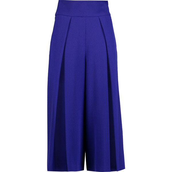 wide leg cropped trousers - Blue Milly