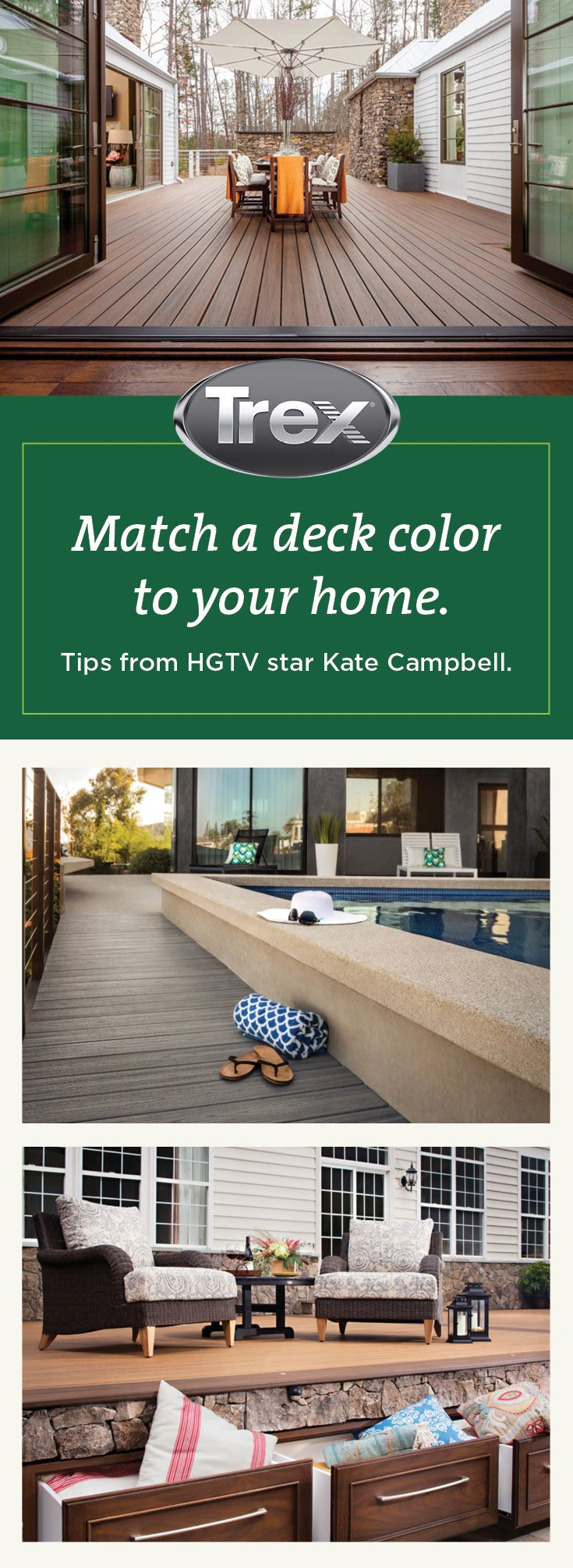Kate Campbell Knows Her Colorways Read Find A Decking Color That Suits Your Home S Style On Houzz Trexdecking Composited Deck Colors Backyard Spaces Deck