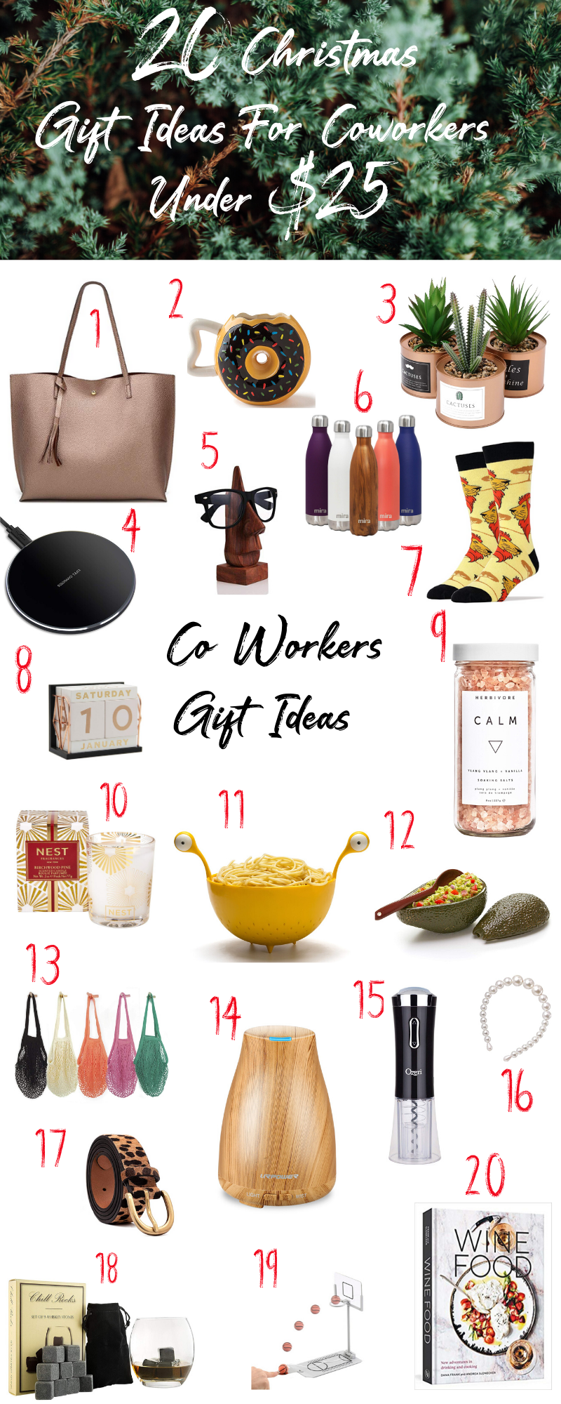 20 Christmas Gift Ideas For You Co Workers Under 25 Affordable