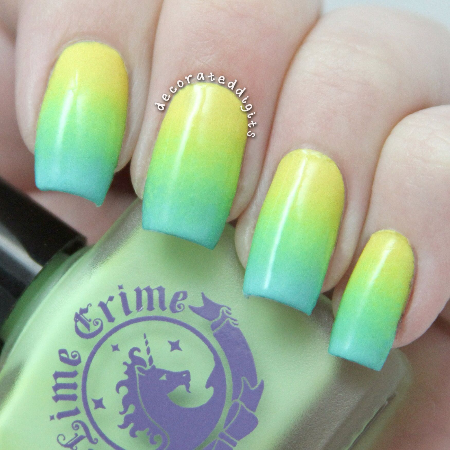 Tropical spring ombré gradient nails by decorateddigits ...