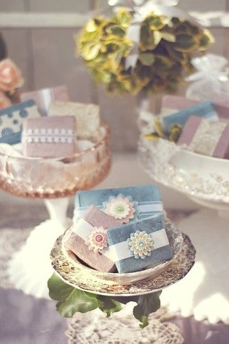 Beautifully Wrapped Soap Favors