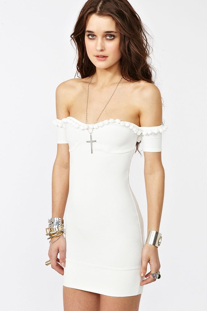 Caliente Dress White