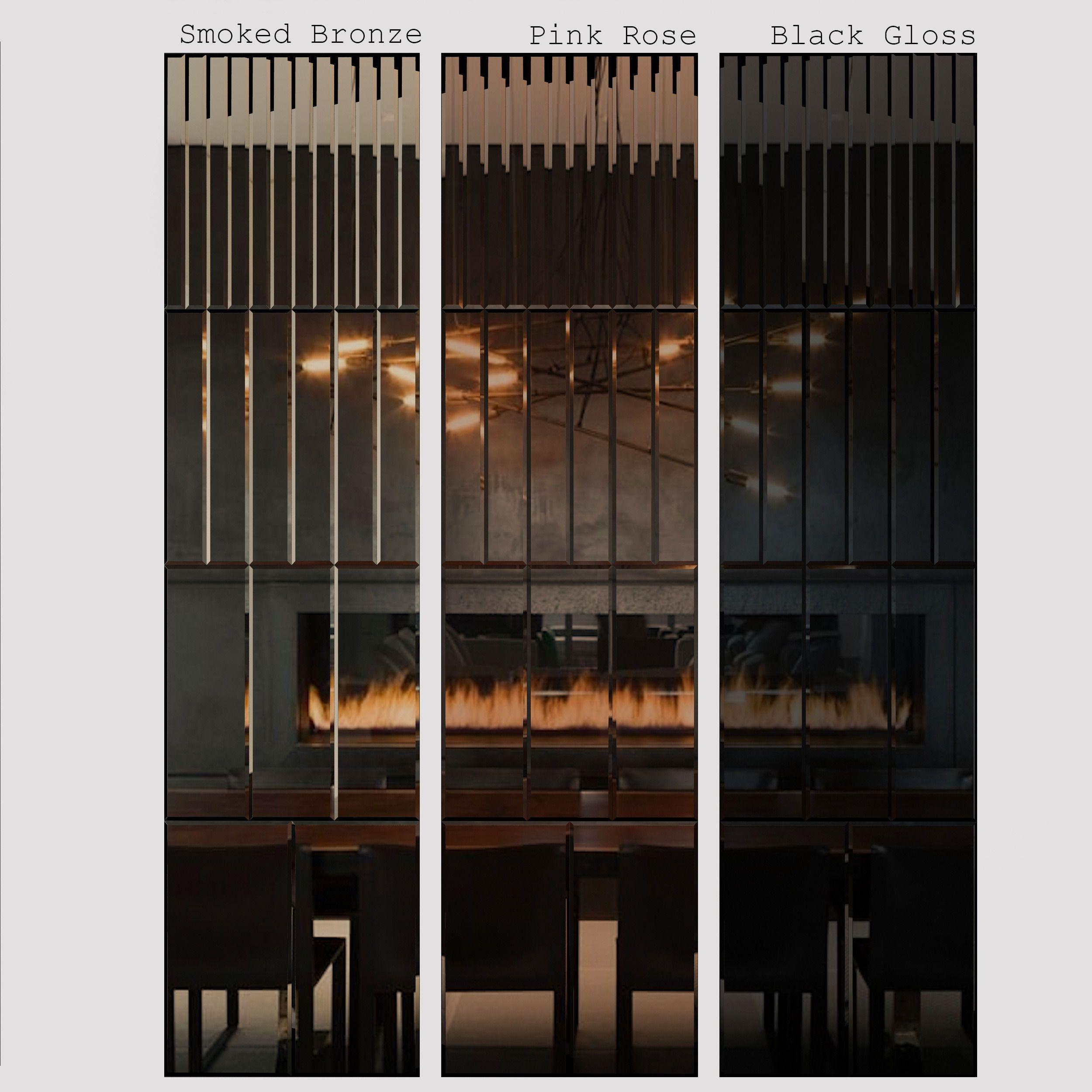 Pleat Mirror Panel By Akollection 3d Model Dengan Gambar