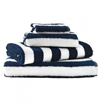Incroyable Mayfair Stripe For Nautical Bathroom   Down Stairs Bathroom With Red Towels