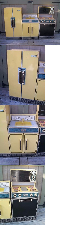 Kitchen Play Set Kids Vintage Sears Refrigerator Sink Stove Oven