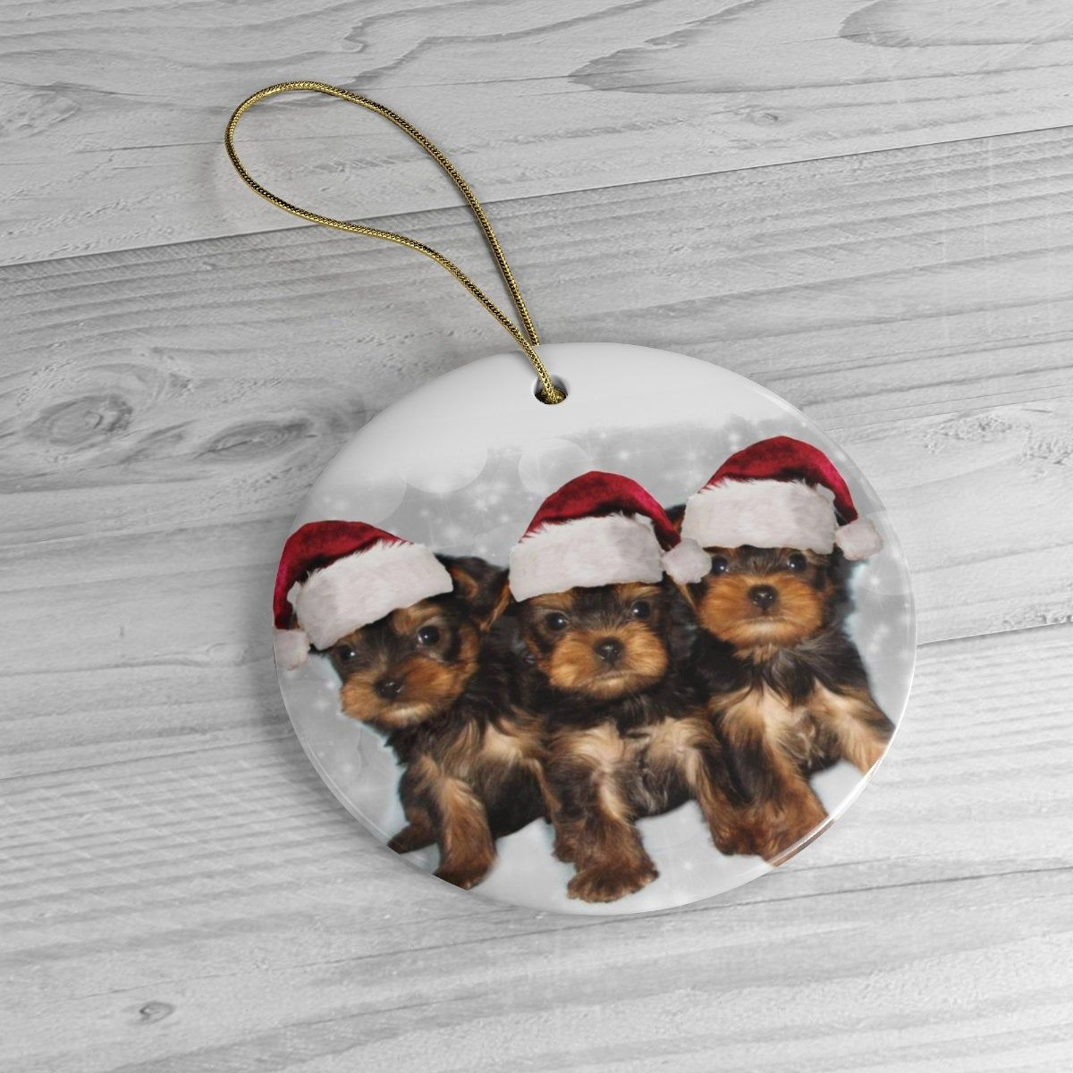 Christmas Yorkshire Terrier Puppies Heirloom Ceramic Ornament Christmas Holiday Dog Yorkshire Terrier Puppies Christmas Ornaments To Make Yorkshire Terrier