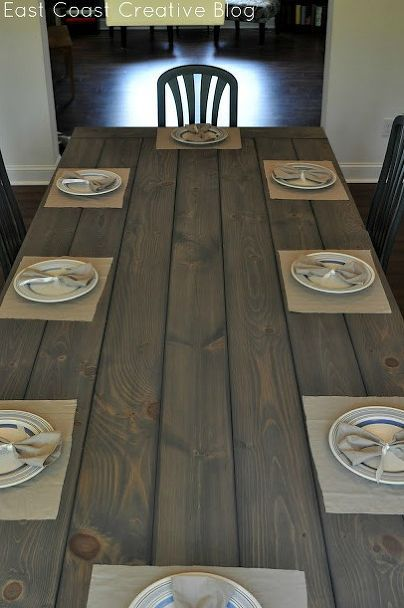 making your own dining room table   Make your own Farmhouse Table (The Easy Way!)   Diy ...