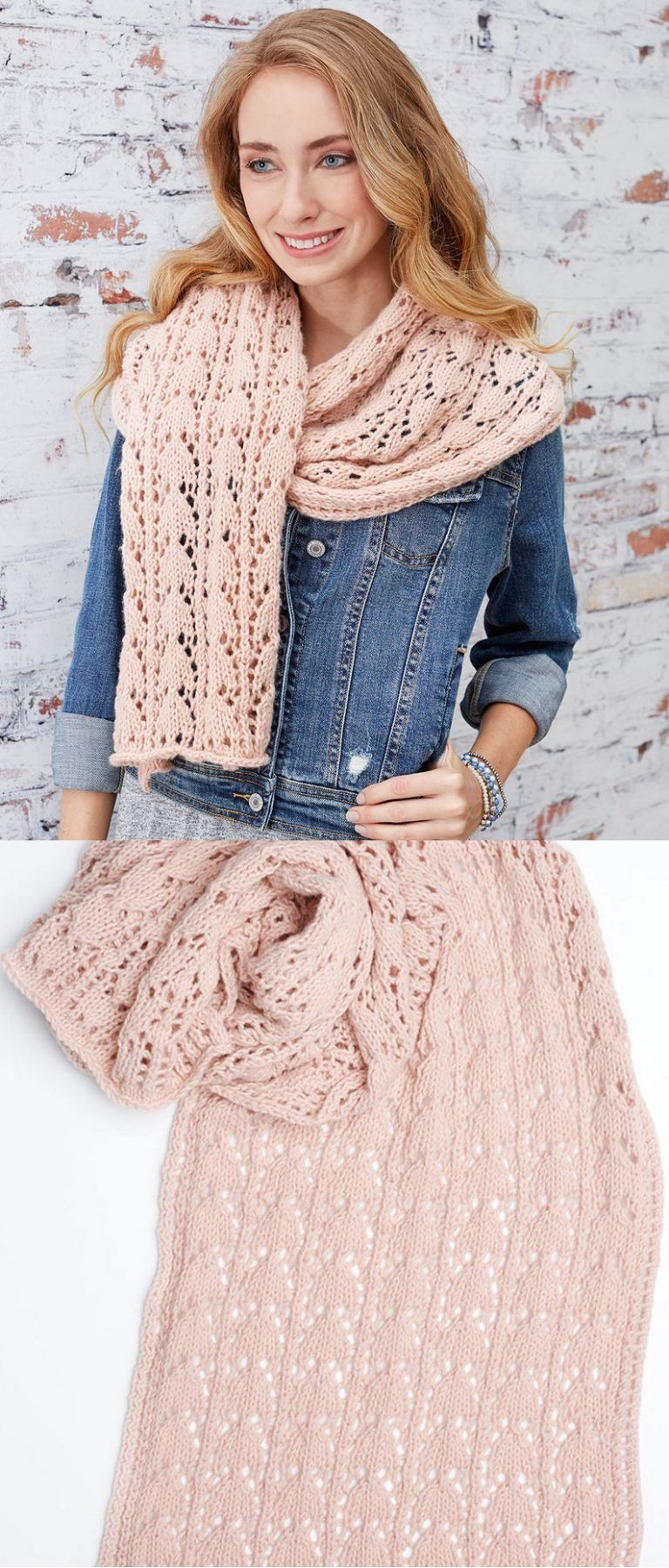 Free Knitting Pattern for a First-Timer Knit Lace Scarf   Tejido ...