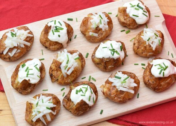 Mini baked potatoes recipe such a fun and easy party food idea for mini baked potatoes recipe such a fun and easy party food idea for bonfire night forumfinder Image collections