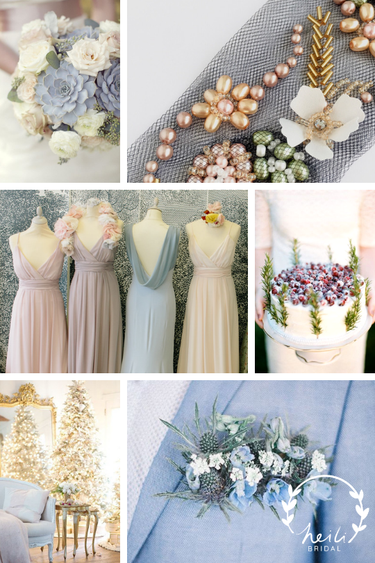 Cinderella Winter Wedding Inspiration | Pastel wedding colors