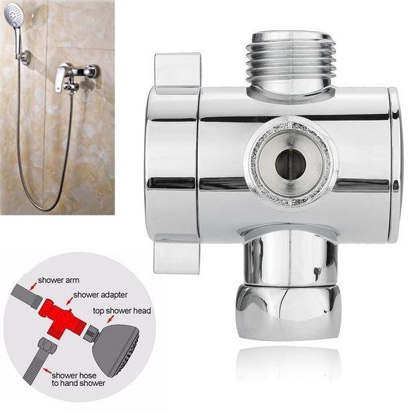 Practical 1pc 1 2 3 Way T Adapter Bath Adjustable Shower Head