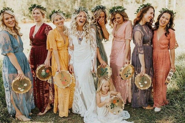 20 Bohemian Bridesmaid Dresses for 2019 -   15 wedding Boho hippie ideas