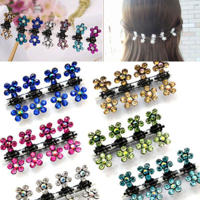 GIRL Crystal Rhinestone Flower Hair Clips Hairpin Comb Claw Hair Accessories NEW