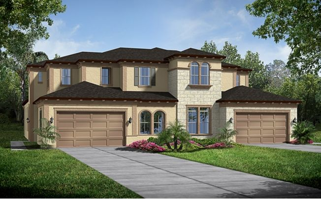 A Isabella Italianate Model By Standard Pacific Homes In The Villas At Nocatee