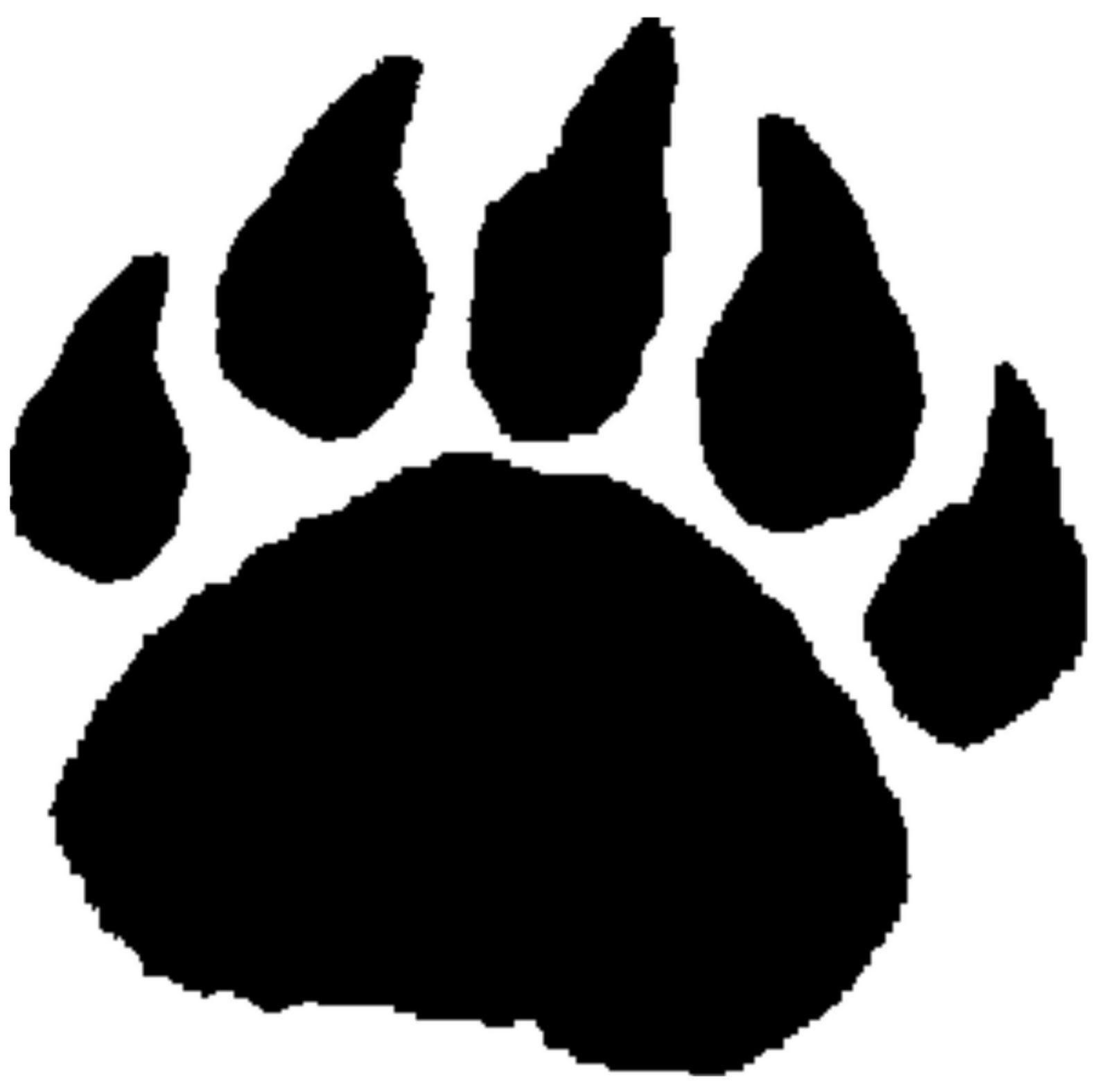 Bear Paw Print Drawing Not Filled - PeepsBurgh