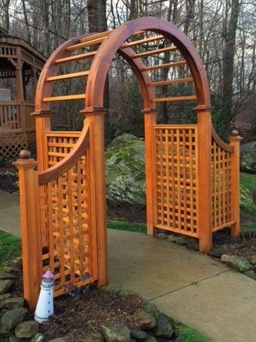 Classic Symmetrical Natural Cedar Arbor With Images Garden