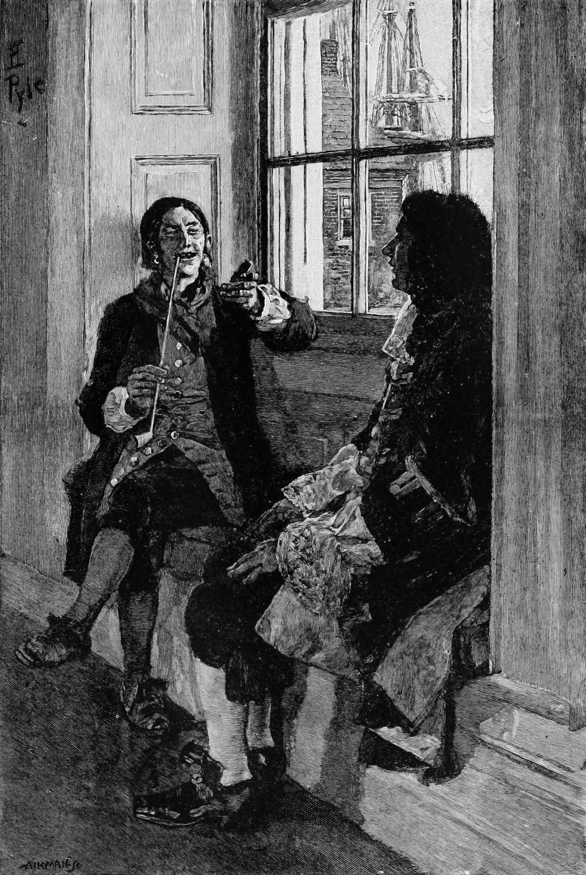 He Had Found the Captain Agreeable and Companionable by Howard Pyle