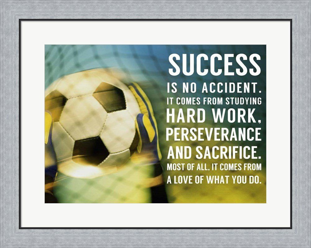 Success Soccer Quote by Sports Mania Framed Art Print Wall Picture ...