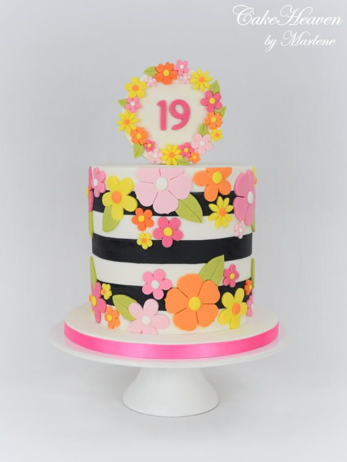 Colourful 19th Birthday Cake By Cakeheaven By Marlene Cakes Cake