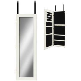 Over The Door Jewelry Armoire With A Full Length Mirror Front. Includes