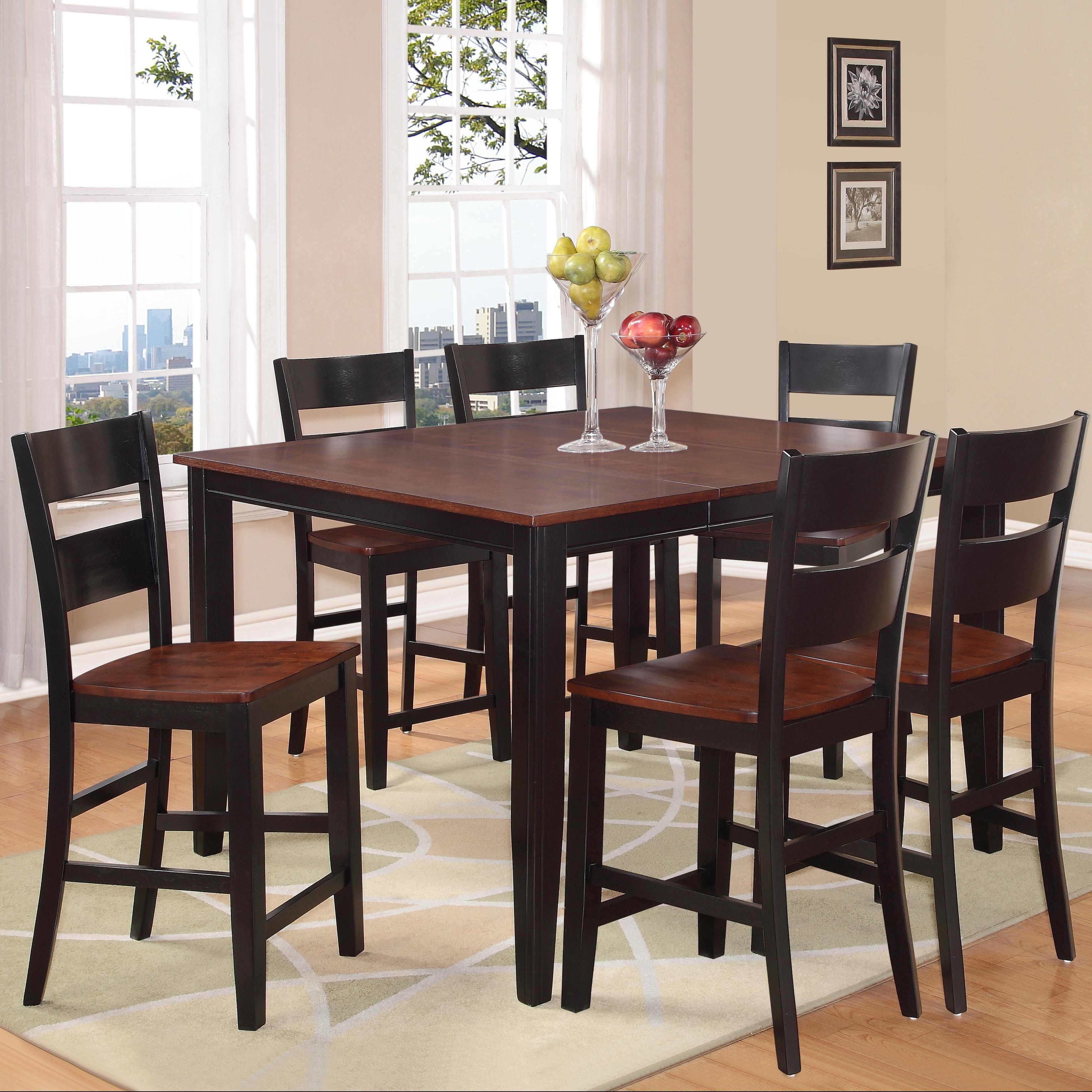 8202 7 Piece Counter Height Dining Set With Square Table By Holland House At Royal Furniture Pub Dining Set Pub Table Sets High Top Tables