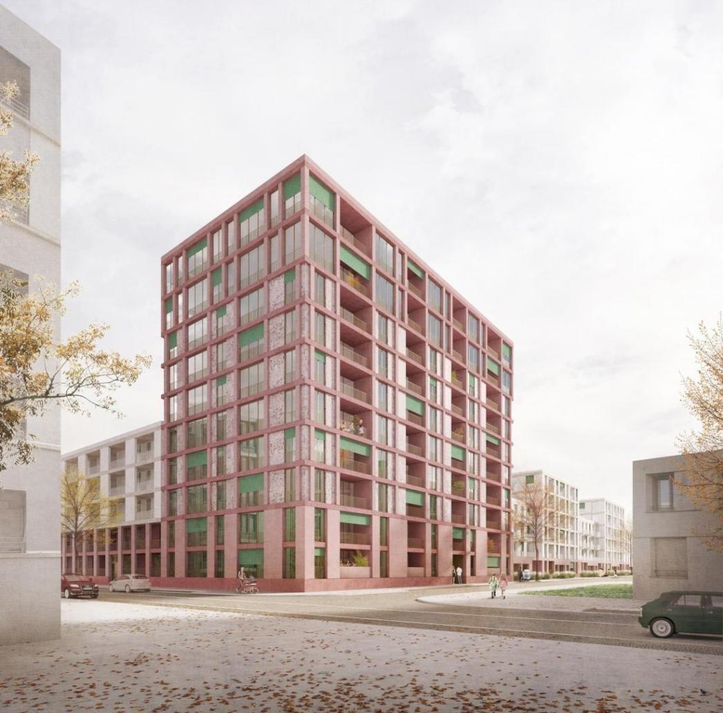Visualisierung München architektur palais mai paul gerhardt allee münchen 3 preis