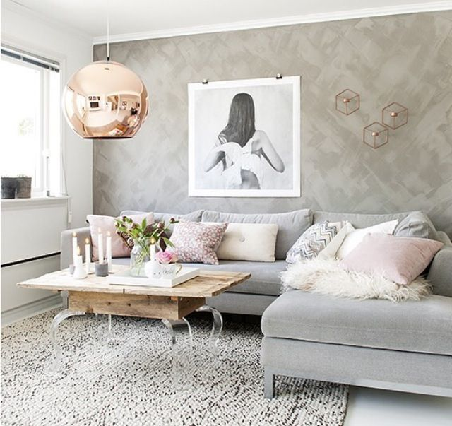 Grey Pink Trendy Home Decor 1000 Ideas About Grey Interior: Pin By Ivory And Noir On L I V I N G