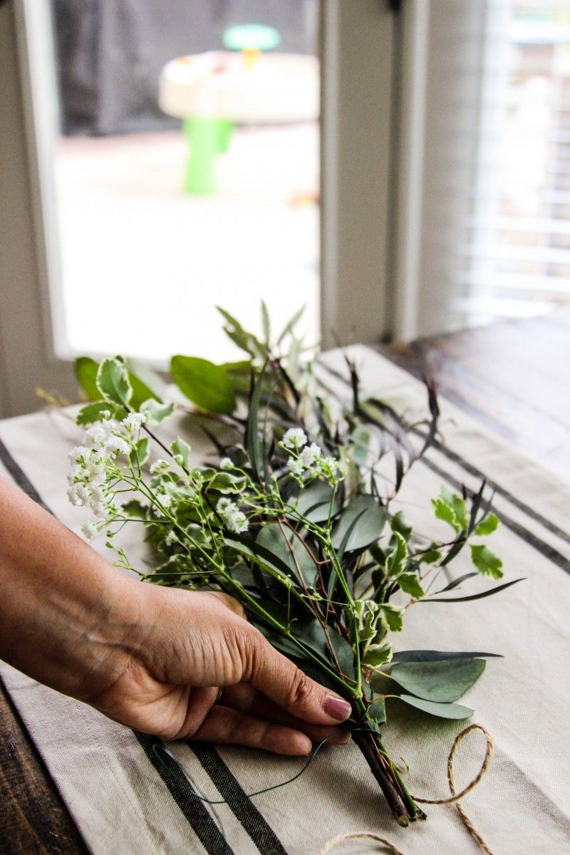 DIY Fresh Greenery Garland Alfa Sengupta Wedding