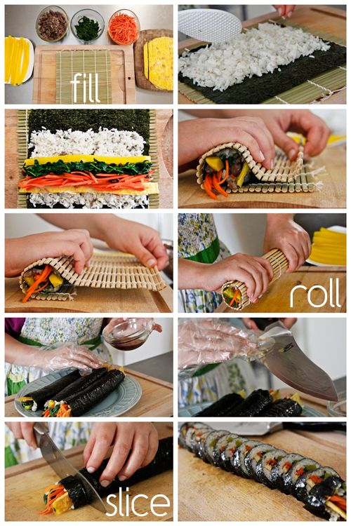 Easy Kimbap (Korean Sushi Roll) - My Korean Kitchen