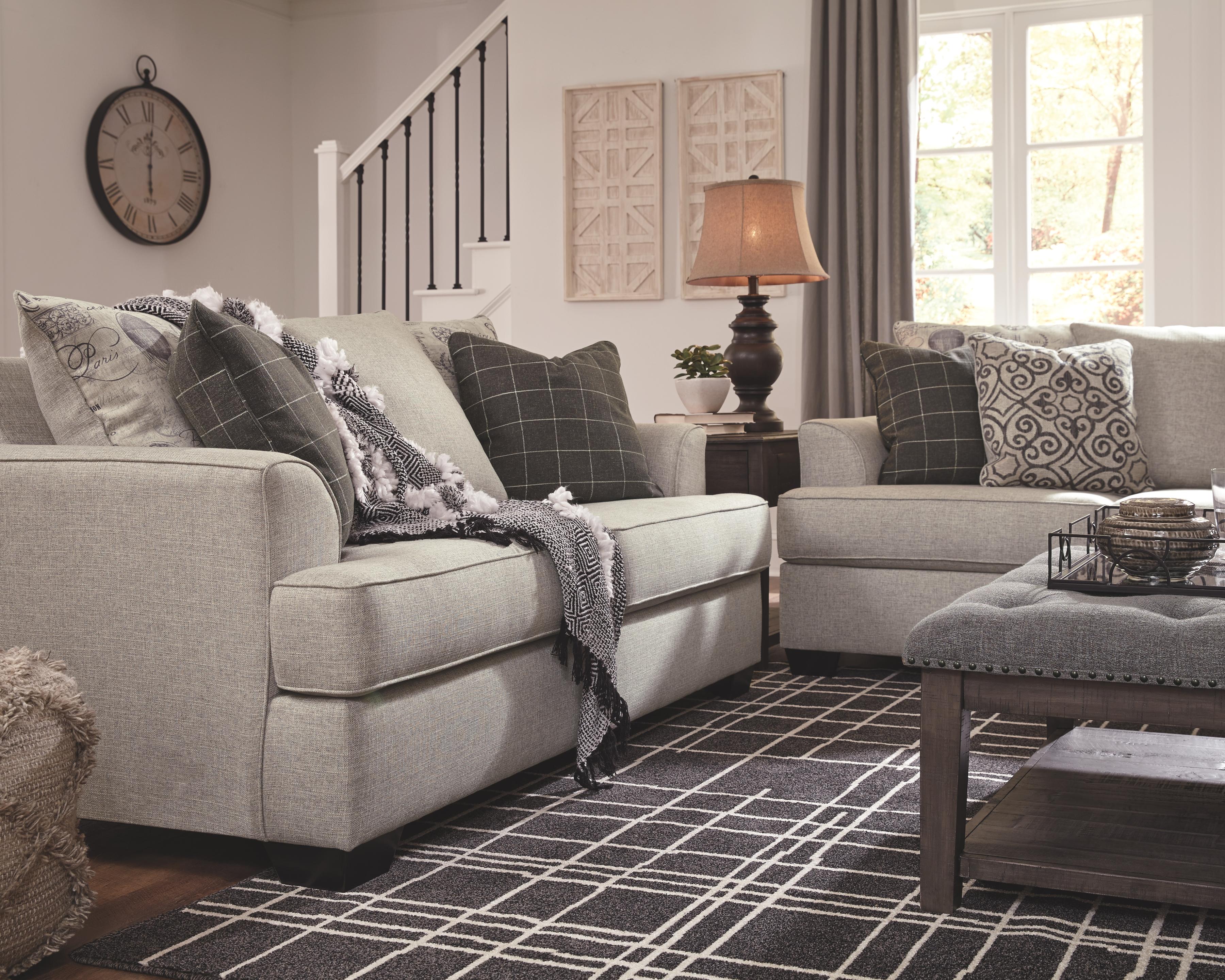 Velletri Loveseat Pewter Love Seat Ashley Furniture Luxury Linen
